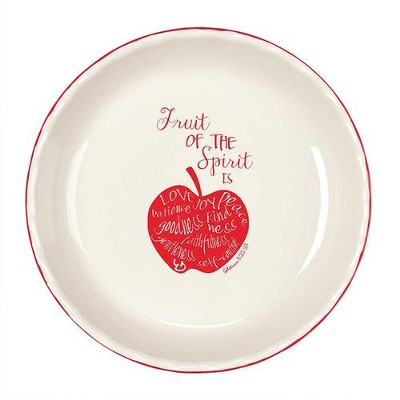Fruit Of The Spirit, Stoneware Pie Plate, Galatians 5:22, 23  -