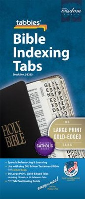 Catholic, Large Print Bible Tabbies   -