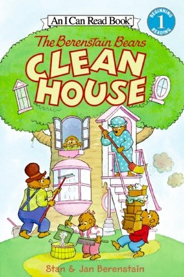 The Berenstain Bears Clean House [With Stickers]  -     By: Stan Berenstain, Jan Berenstain