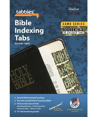 Bible Tabs, Camo, Forest  -