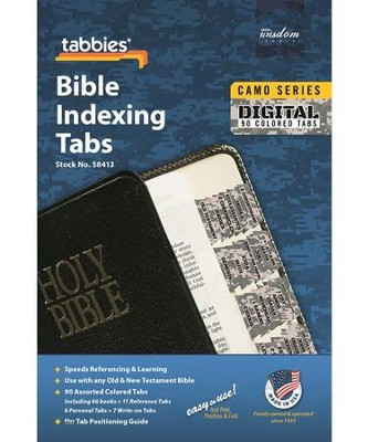 Bible Tabs, Camo, Digital  -