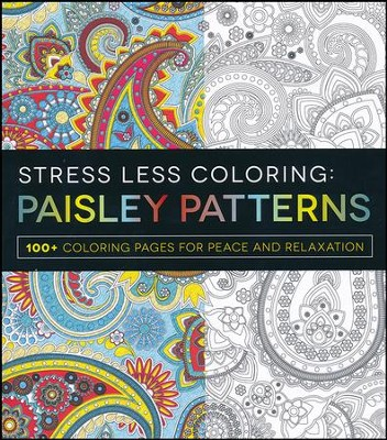 Stress Less Coloring - Paisley Patterns  -