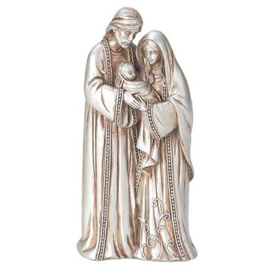 Holy Family Resin Figurine, Silver  -