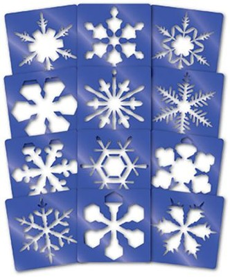 Super Snowflake Stencils (Package of 12)   -