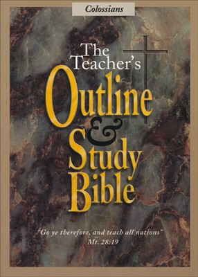 Teacher's Outline & Study Bible KJV: Colossians    -