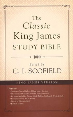 Classic King James Study Bible, hardcover  -     Edited By: C.I. Scofield     By: C.I. Scofield, ed.