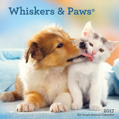 2017 Whickers & Paws Wall Calendar  -