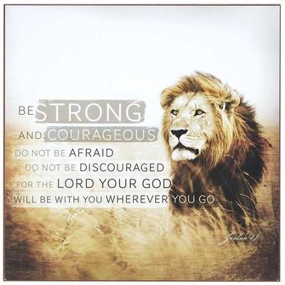 strong courageous wall plaque joshua 1 9 christianbook com
