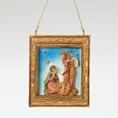 Holy Family Frame Ornament  -