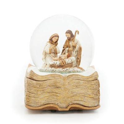 Holy Family Scene Musical Glitterdome  -