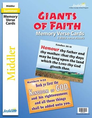 Giants of Faith Middler (Grades 3-4) Memory Verse Visuals  -