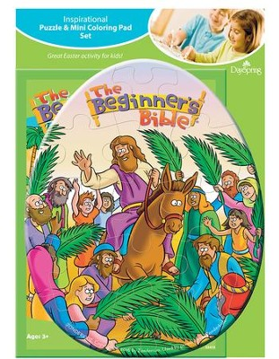 Beginner's Bible Puzzle and Coloring Pad  -
