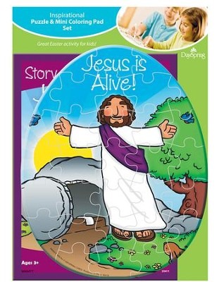 Story Of Easter Puzzle and Coloring Pad  -