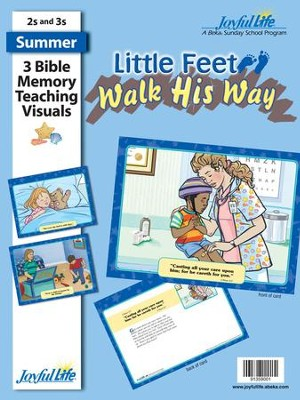 Little Feet Walk His Way (ages 2 & 3) Bible Memory Verse Visuals  -