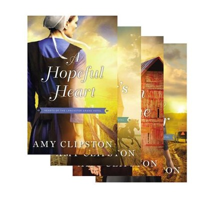Hearts of the Lancaster Grand Hotel Series, Volumes 1-4  -     By: Amy Clipston