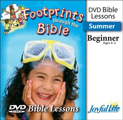 Footprints through the Bible Beginner (ages 4 & 5) Bible Lesson DVD  -