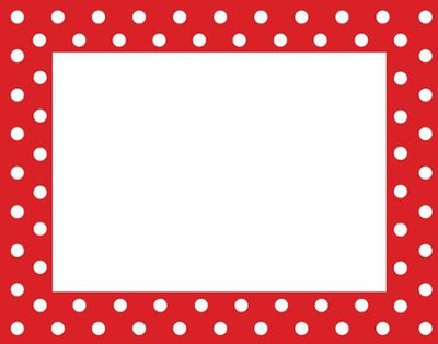 Red & White Dots Name Tags (Pack of 45)   -