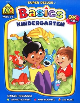 The Super Deluxe Basics Series: Kindergarten Workbook   -