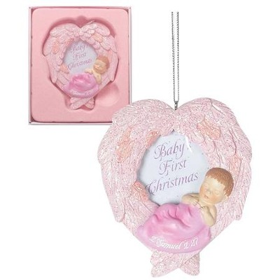 Baby's First Christmas Photo Frame, Pink  -