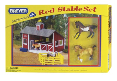 Red Stable Set with Horses  -