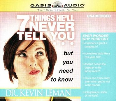 7 Things He'll Never Tell You but You Need to Know - audiobook on CD  -     By: Dr. Kevin Leman