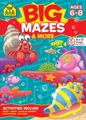 Big Mazes & More Workbook Ages 6-8   -