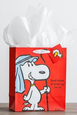 Peanuts, Good Tidings, Gift Bag  -