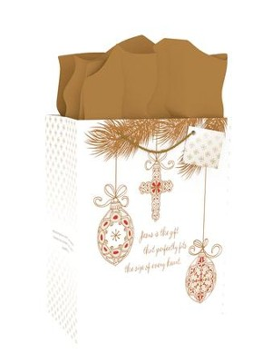 Inspiring Ornaments, Jesus Is the Gift, Gift Bag  -