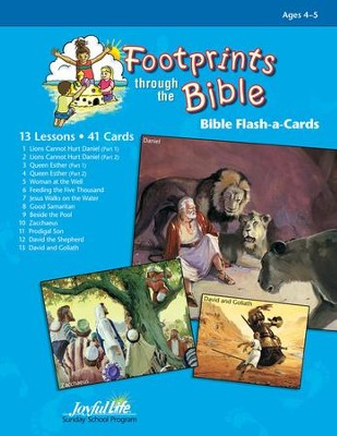 Footprints through the Bible (Beginner; ages 4s & 5s) Extra Bible Story Lesson Guide  -