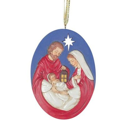 Holy Family Resin Ornament  -