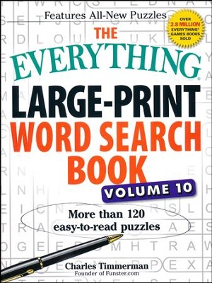 The Everything Large-Print Word Search Book, Volume 10  -     By: Charles Timmerman
