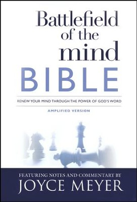 Amplified Bible, Battlefield Of The Mind Bible, Hardcover  - Slightly Imperfect  -     By: Joyce Meyer