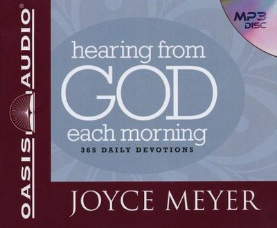 Hearing From God Each Morning: 365 Daily Devotions - Unabridged Audiobook on MP3 CD  -     By: Joyce Meyer