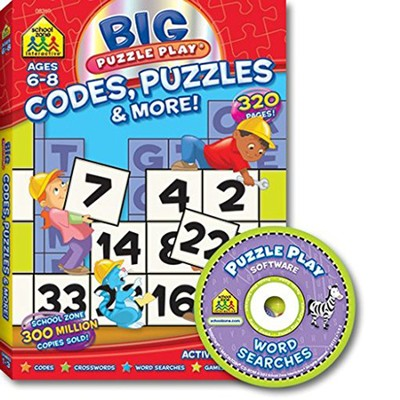 Big Puzzle Play: Codes Puzzles & More! Workbook w/CDROM  -