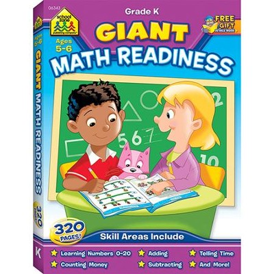 Giant Math Readiness Grades 1-2 Workbook   -