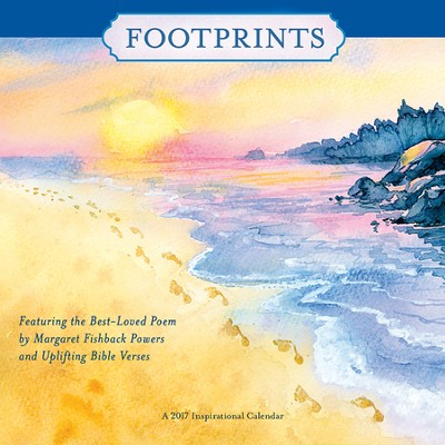 2017 Footprints Wall Calendar  -