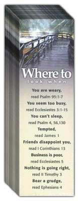 Where to Look When: You Need Rest, Topic Bookmarks, 25  -