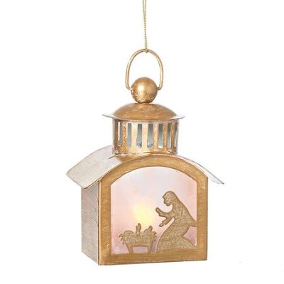 LED Lantern Ornament, Mary with Babe  -