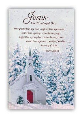 Jesus, the Wonderful One Cards, Box of 18  -