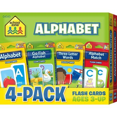Alphabet Flash Cards 4 Pack  -