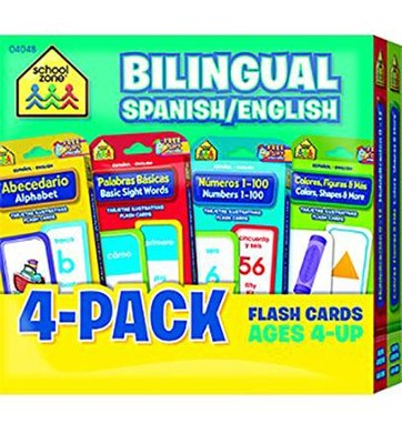Bilingual Spanish/English 4-Pack Flash Cards   -