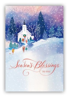 Season's Blessings to You Cards, Box of 18  -