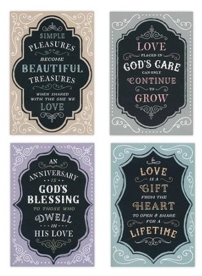 Anniversary, Chalkboard Cards, Box of 12  -
