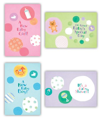 Circles, Baby Cards, Box of 12  -