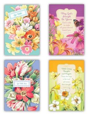 Nature's Blessings, Get Well Cards, Box of 12  -     By: Marjolien Bastin
