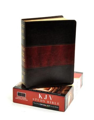 KJV Study Bible, Saddle Brown Simulated Leather, Indexed  -