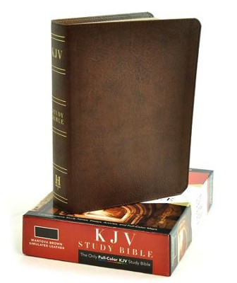 KJV Study Bible, Mantova Brown Simulated Leather  -