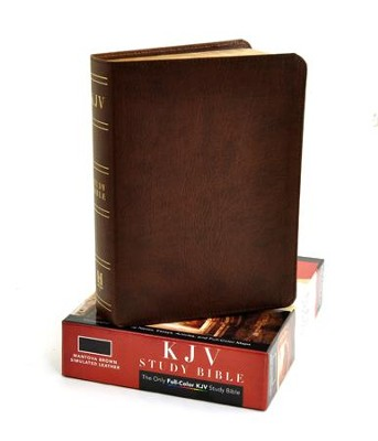 KJV Study Bible, Mantova Brown Simulated Leather, Indexed  -