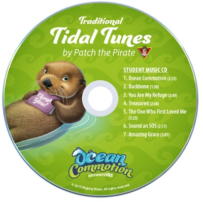 Ocean Commotion VBS Traditional: Tidal Tunes Student CDs  (Pack of 10)  -