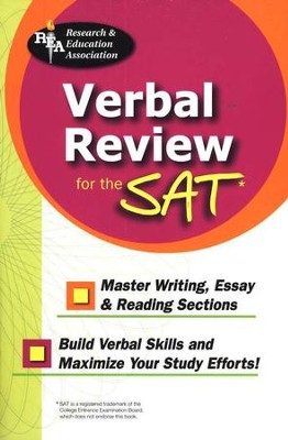 Verbal Review for the SAT  -     By: REA